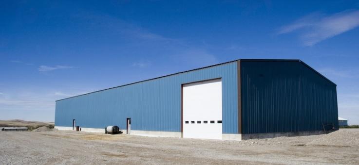 Фото Несущие металлоконструкции одноэтажных производственных зданий